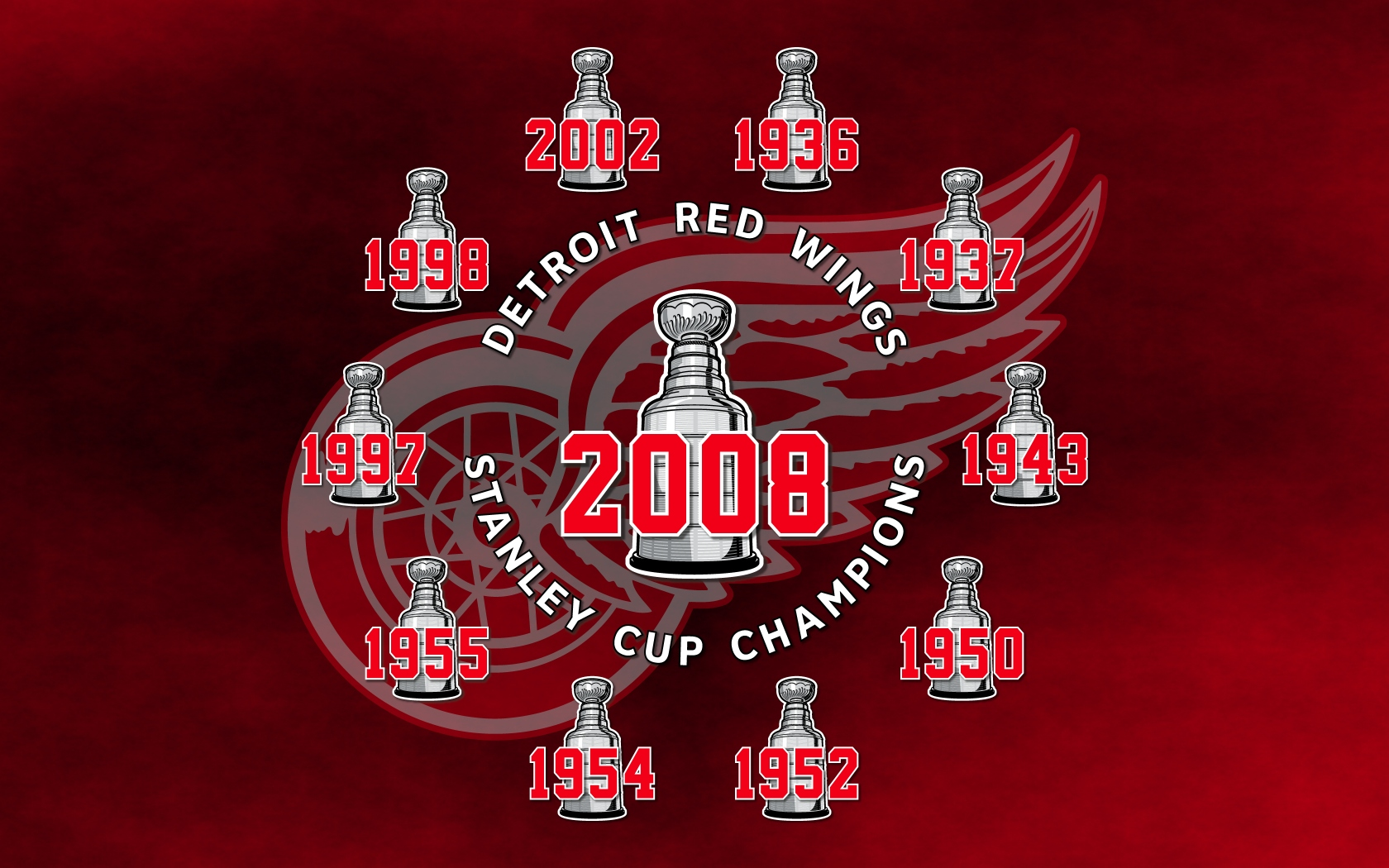 Detroit red wings wallpaper and background image 1680x1050 id sports detroit red wings wallpaper voltagebd Choice Image
