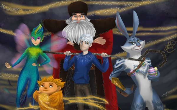 Movie Rise Of The Guardians Jack Frost Tooth North E. Aster Bunnymund HD Wallpaper | Background Image