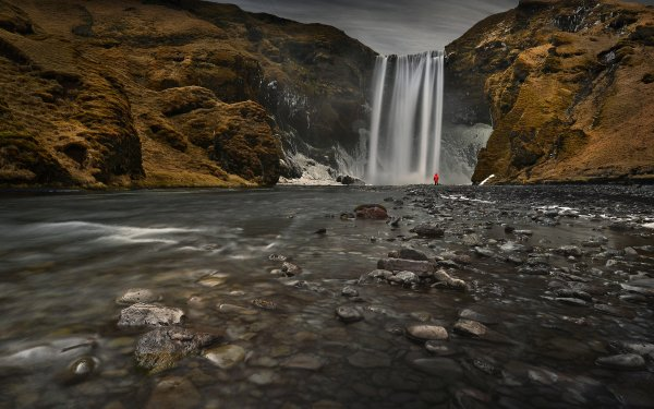 Earth Skógafoss Waterfalls Waterfall Iceland Spring HD Wallpaper | Background Image