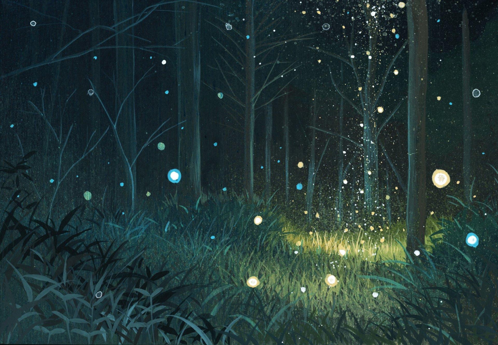 Anime - Original  Grass Forest Magic Tree Plant Nature Anime Original (Anime) Wallpaper
