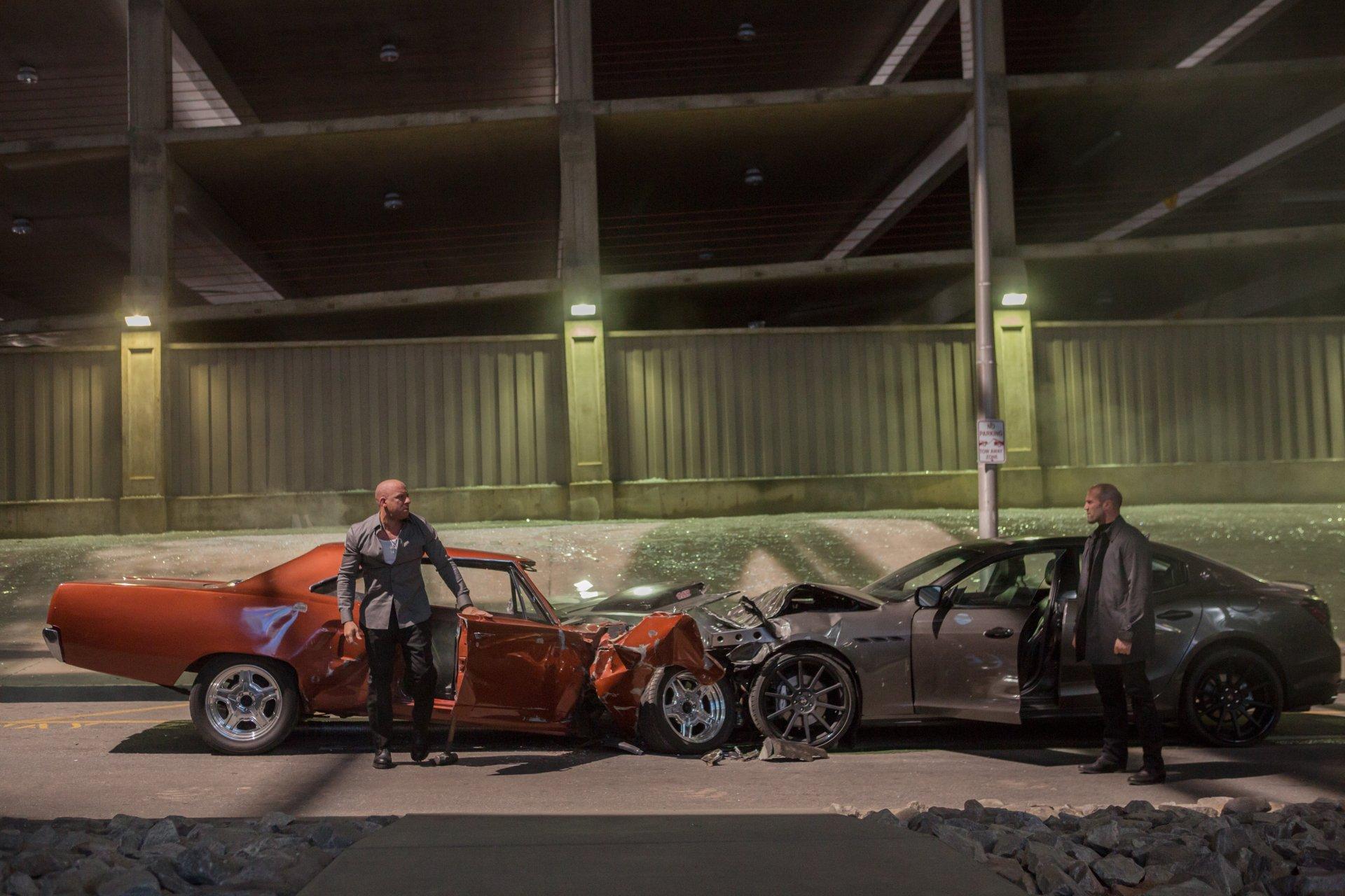 Movie - Furious 7  Fast & Furious Dominic Toretto Vin Diesel Deckard Shaw Jason Statham Wallpaper