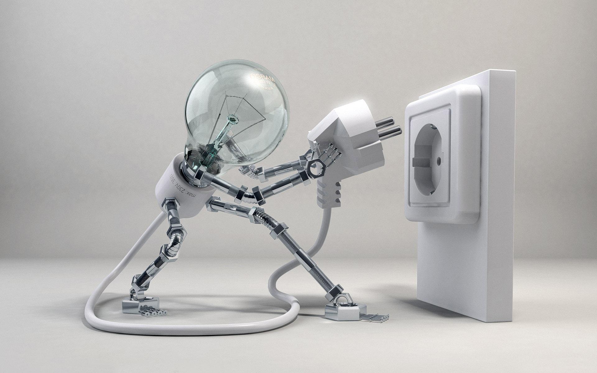 CGI - Other  Plug Socket Cord Bulb Light Lamb Wallpaper