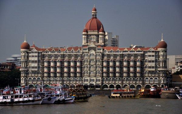 Man Made The Taj Mahal Palace Hotel Hotel Taj Mahal Palace Hotel Maharashtra Maharashtra State India Mumbai Gateway Of India HD Wallpaper | Background Image