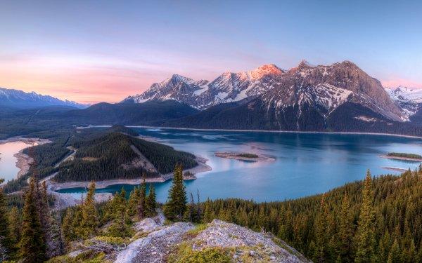 Earth Mountain Mountains Mount Sarrail Banff Banff National Park Canada Alberta Panorama HD Wallpaper | Background Image
