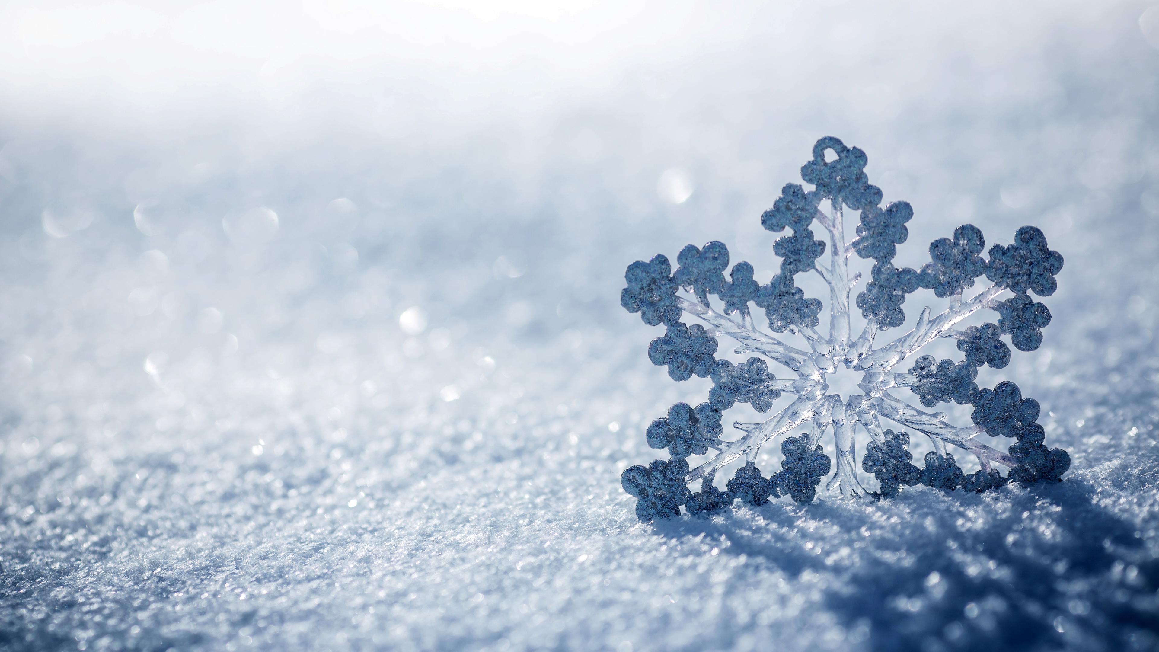 HD Wallpaper | Background Image ID:595450. 3840x2160 Earth Snowflake