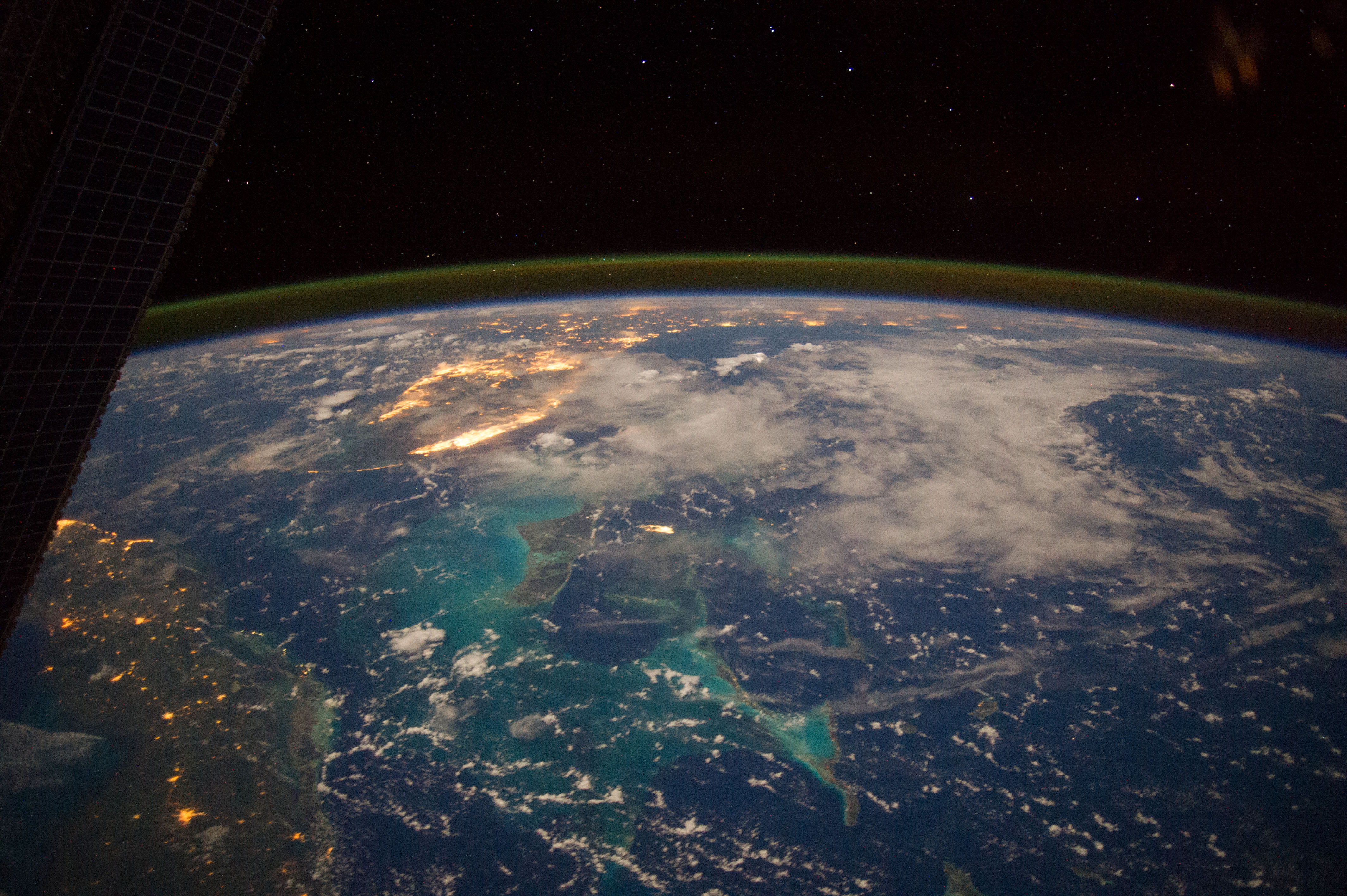 Caribbean sea bahamas cuba southeastern u s nasa for Space station florida