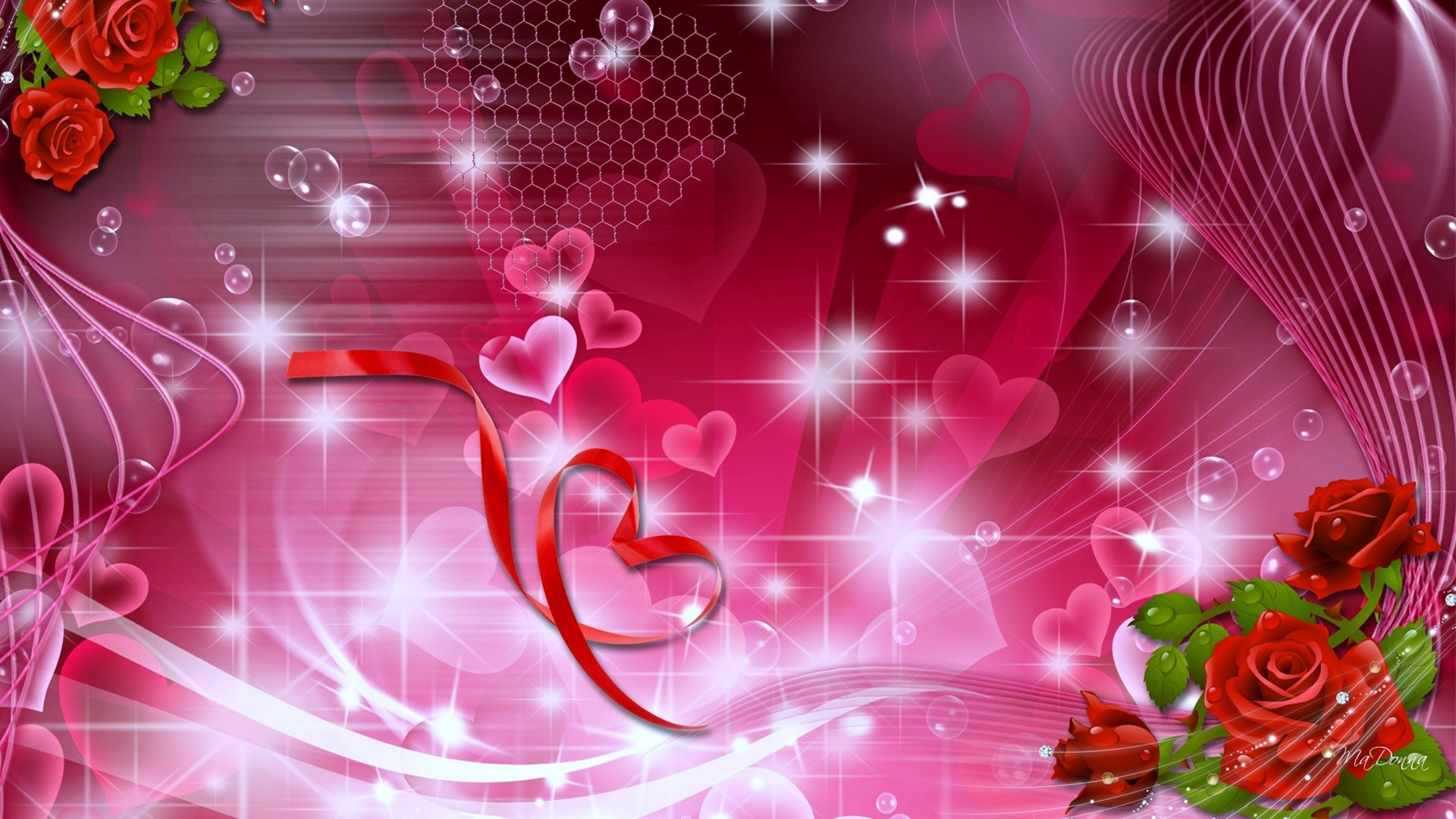 Artistic - Love Romantic Heart Rose Artistic Wallpaper