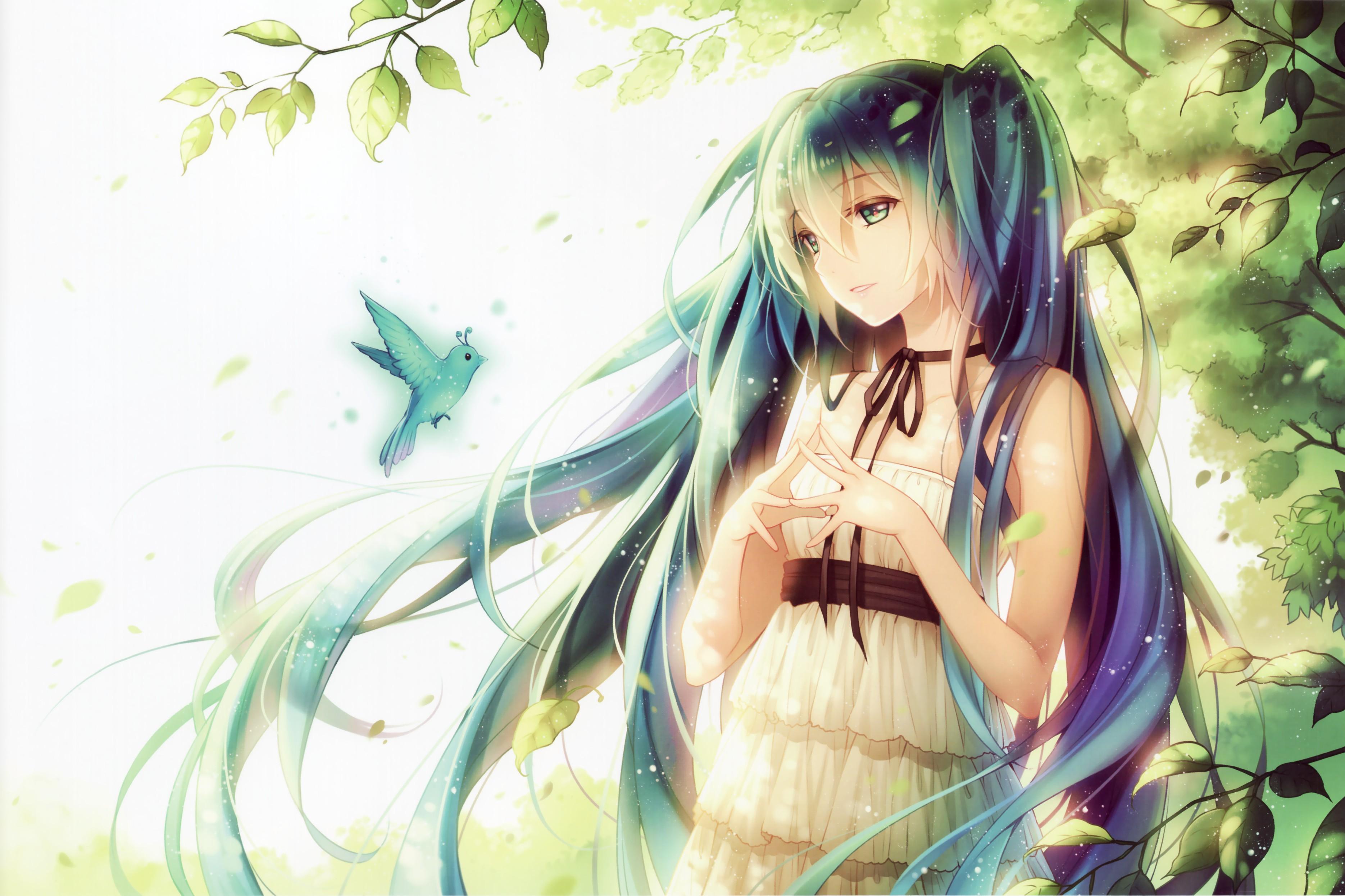 Vocaloid full hd fond d 39 cran and arri re plan 3739x2492 for Fond ecran animation