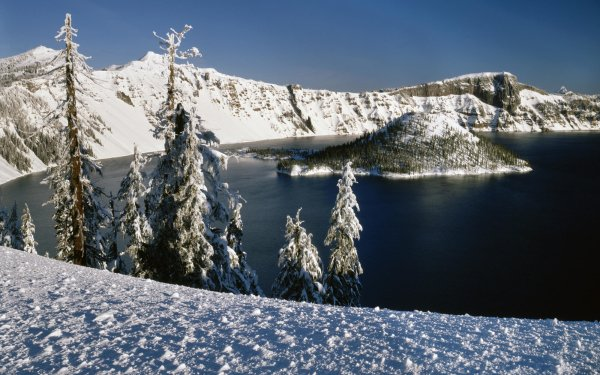 Earth Crater Lake Crater Lake National Park Landscape Oregon HD Wallpaper   Background Image