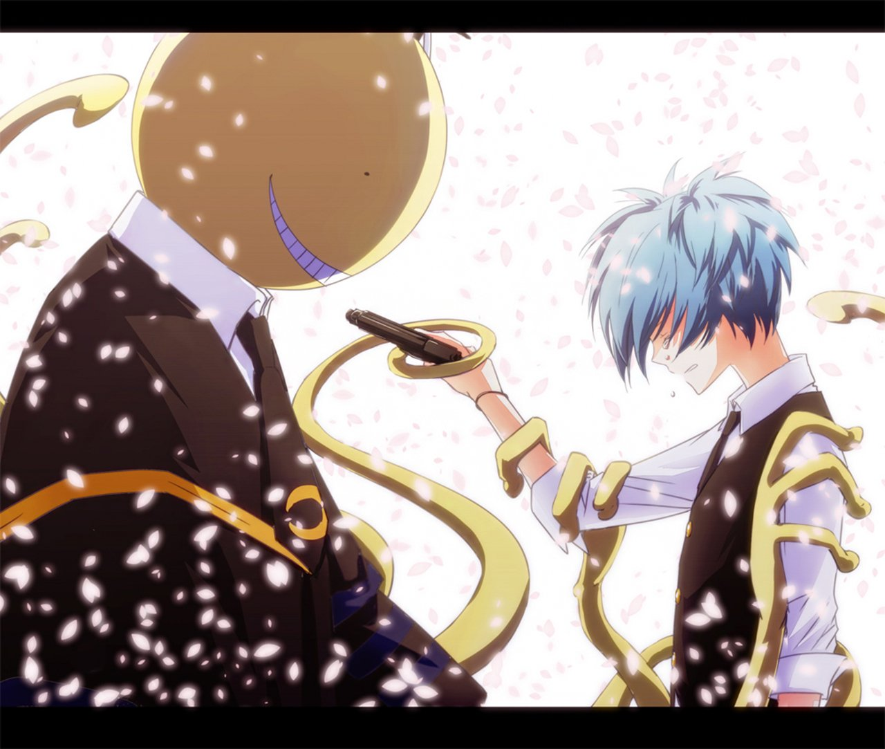 Nagisa Shiota And Koro-sensei 2 Wallpaper And Background