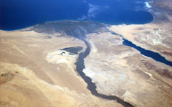 Earth From Space Egypt Nile Africa Sinai Peninsula Mediterranean Desert Sahara HD Wallpaper | Background Image