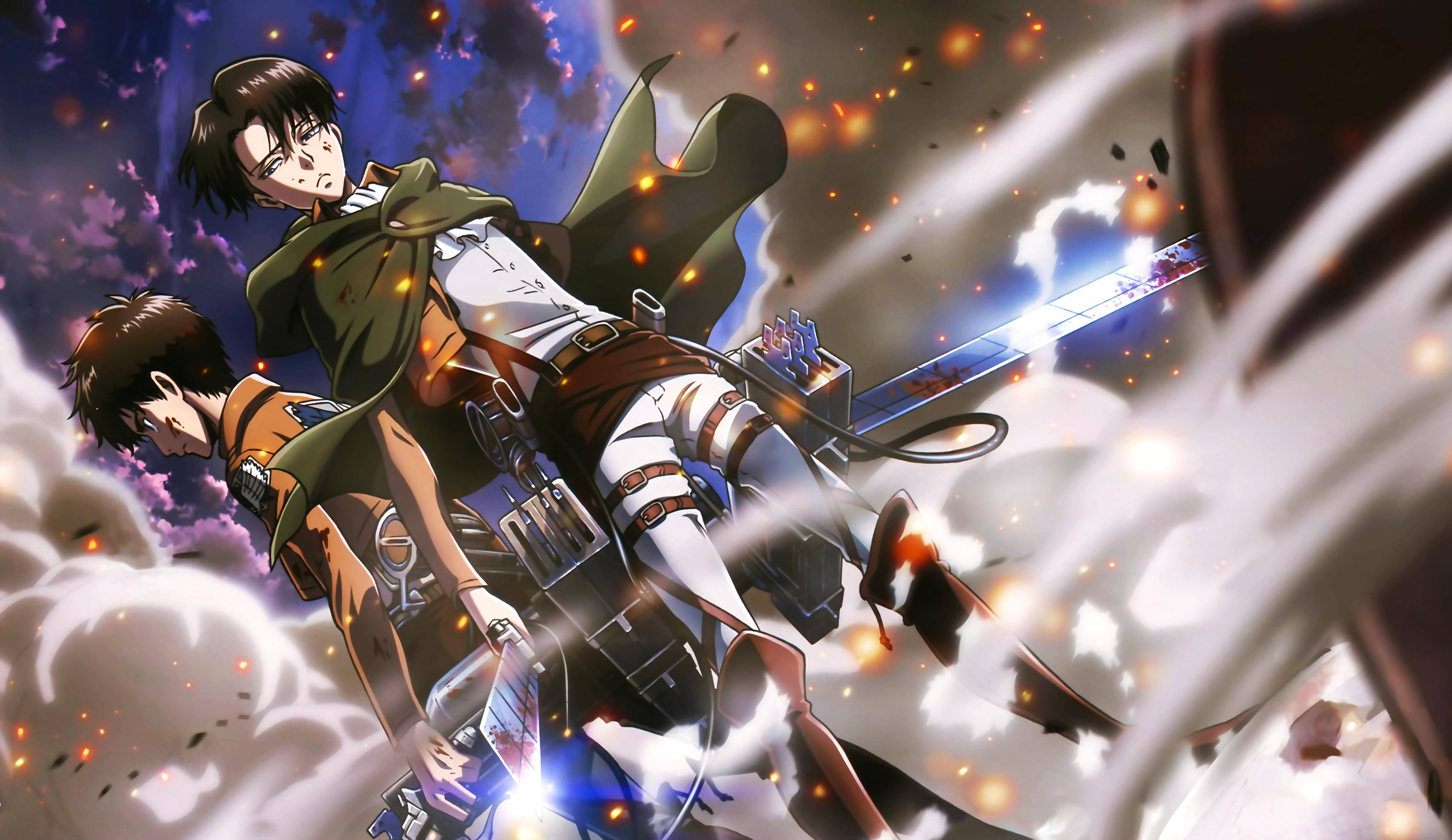 Eren Yeager And Levi Ackerman 4k Ultra Hd Wallpaper Background Image 4000x2315 Id 606224 Wallpaper Abyss