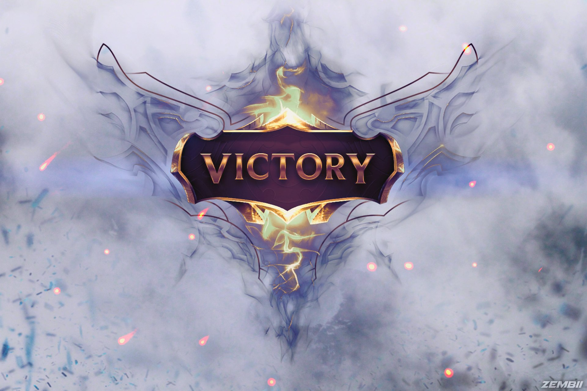 Jeux Vidéo - League Of Legends  Victory Photoshop Fond d'écran