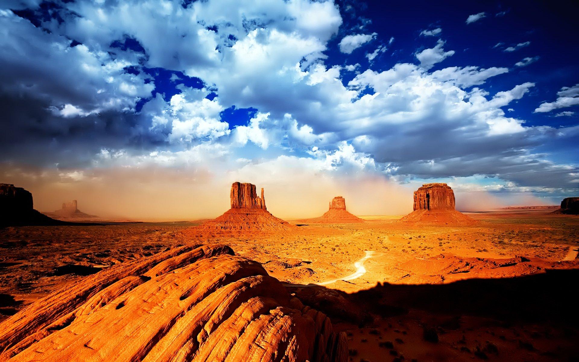 Earth - Monument Valley  Desert Rock Canyon Cloud Landscape Nature Wallpaper