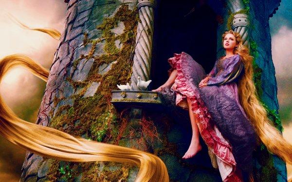 Music Taylor Swift Singers United States Rapunzel Blonde Long Hair Feet Dress HD Wallpaper | Background Image