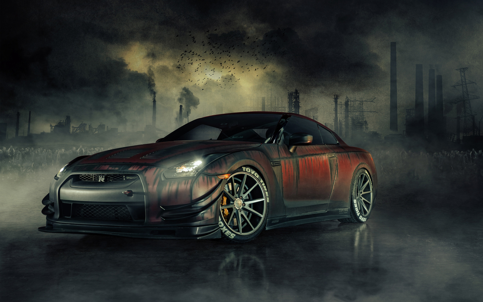 Nissan Gt R R35 Zombie Killer Hd Wallpaper Background Image