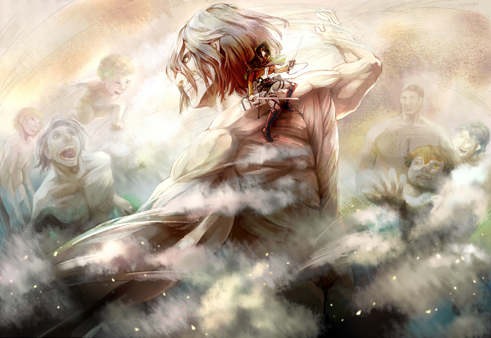 Attack On Titan Wallpaper and Background Image   1596x1100   ID:632842 - Wallpaper Abyss