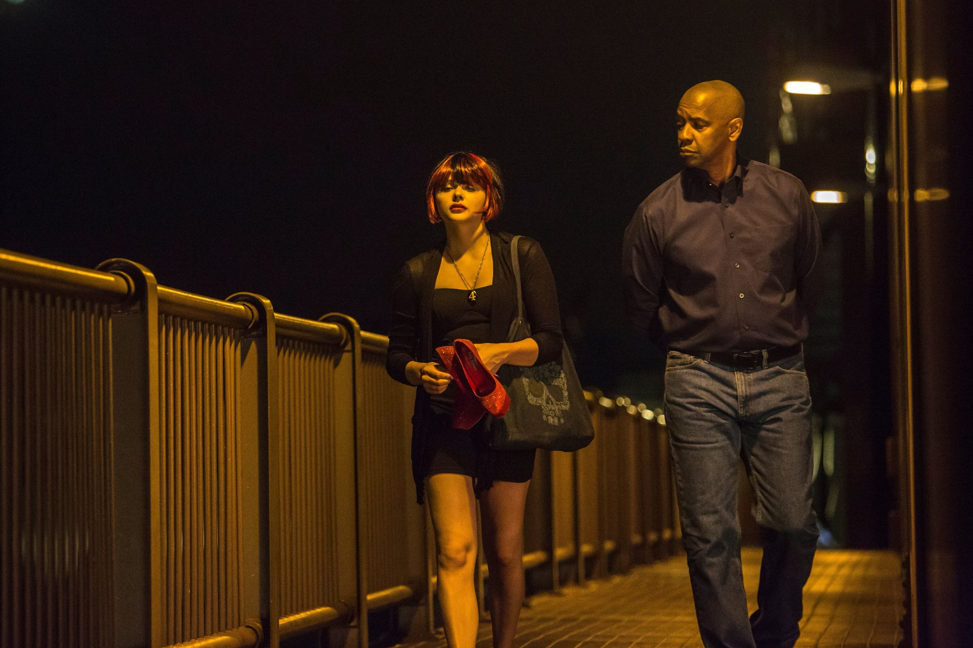 Filme - The Equalizer  Denzel Washington Chloë Grace Moretz Wallpaper