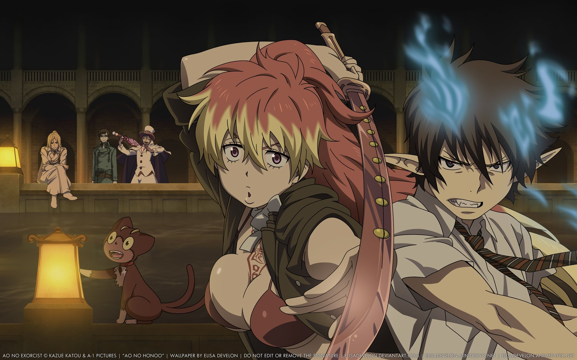 Ao No Exorcist Full HD Wallpaper And Background Image