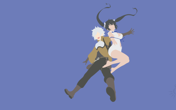 Anime Is It Wrong to Try to Pick Up Girls in a Dungeon? DanMachi Bell Cranel Hestia HD Wallpaper | Background Image