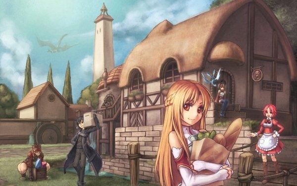 Anime Sword Art Online Klein Agil Kirito Asuna Yuuki Lisbeth Silica HD Wallpaper | Background Image