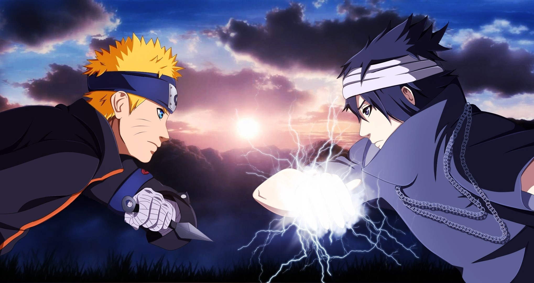 Naruto vs sasuke full hd fond d 39 cran and arri re plan for Fond ecran naruto