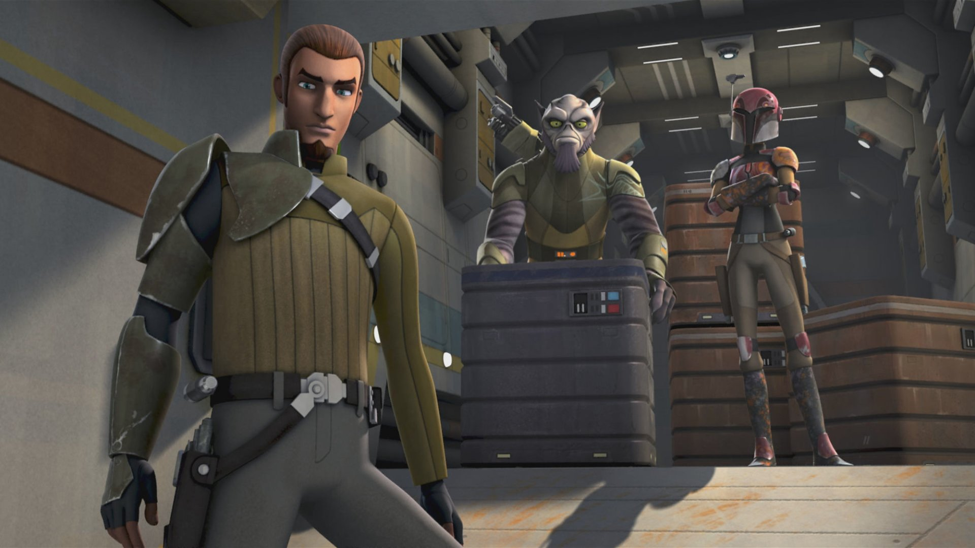 TV Show - Star Wars Rebels  Zeb Orrelios Kanan Jarrus Sabine Wren Wallpaper