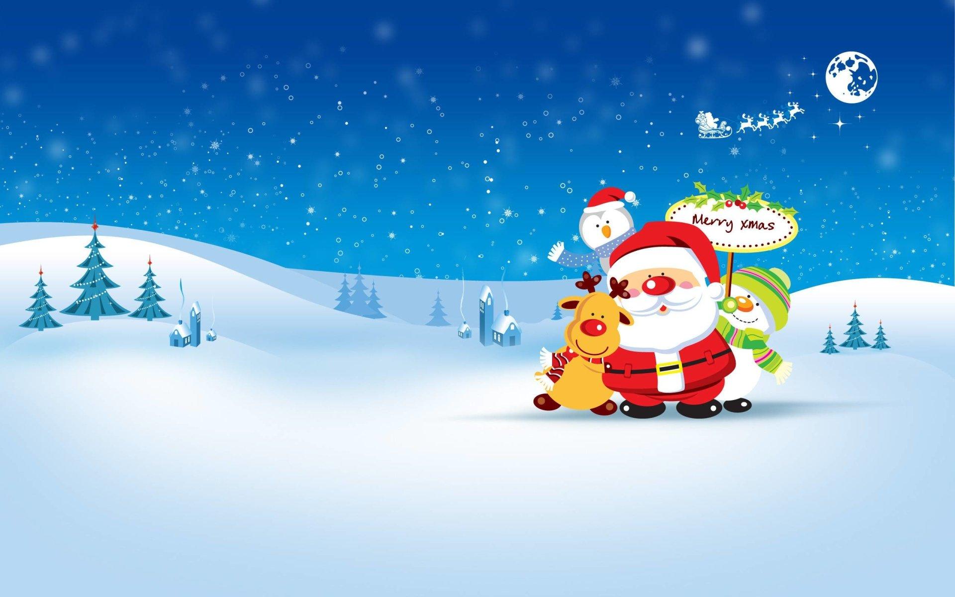 Holiday - Christmas  Merry Christmas Holiday Santa Reindeer Wallpaper