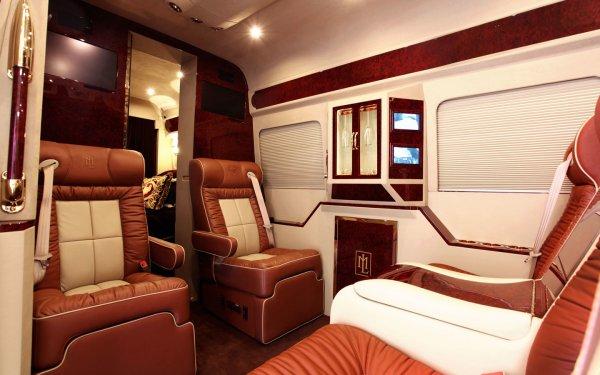 Vehicles Mercedes-Benz Sprinter Mercedes Benz Sprinter Car Van Interior HD Wallpaper | Background Image