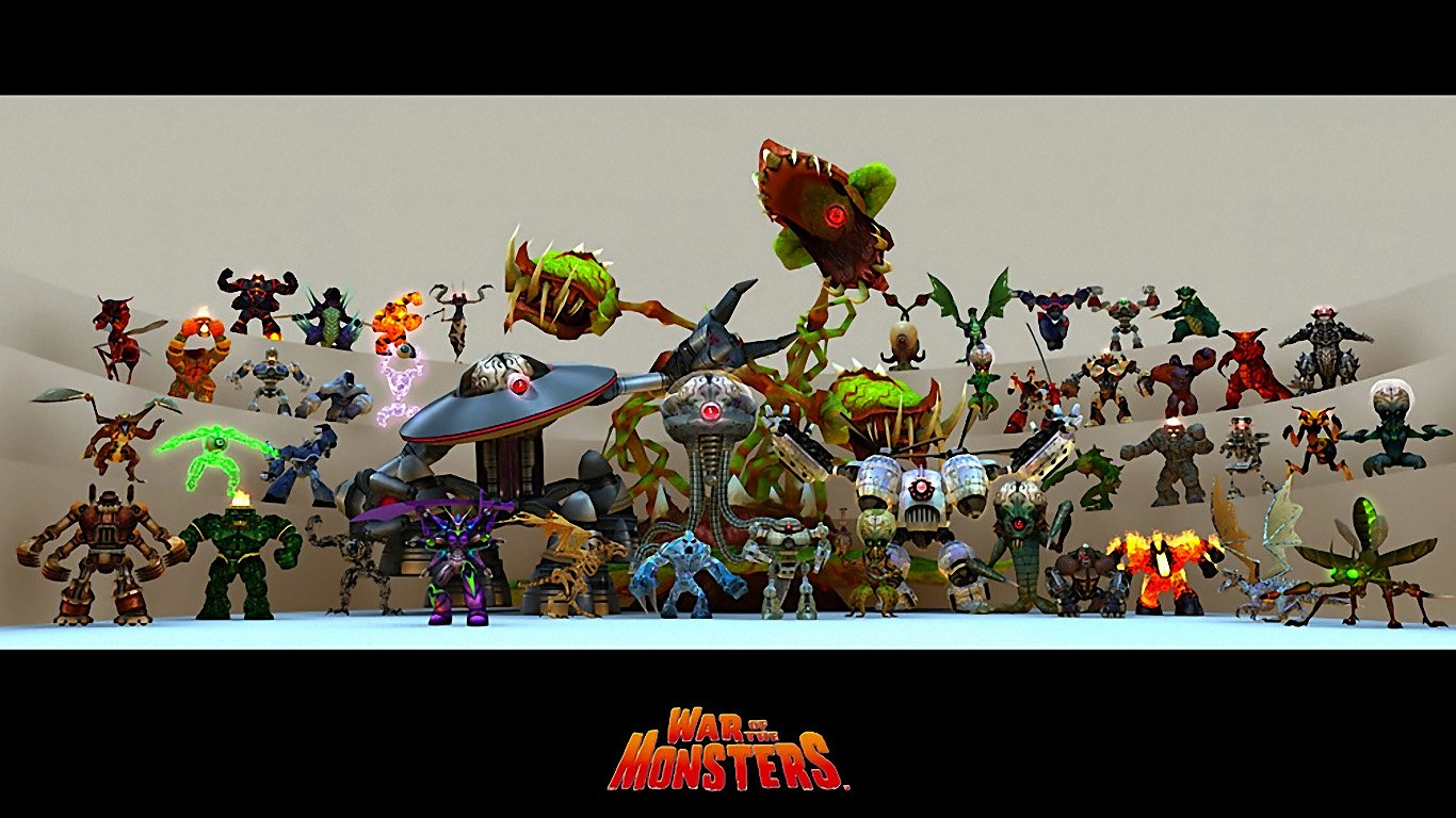 War Of The Monsters Wallpaper And Background Image 1366x768 Id
