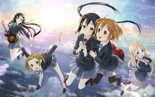 Anime K-ON! Mio Akiyama Yui Hirasawa Tsumugi Kotobuki Azusa Nakano Ritsu Tainaka Fondo de pantalla HD | Fondo de Escritorio