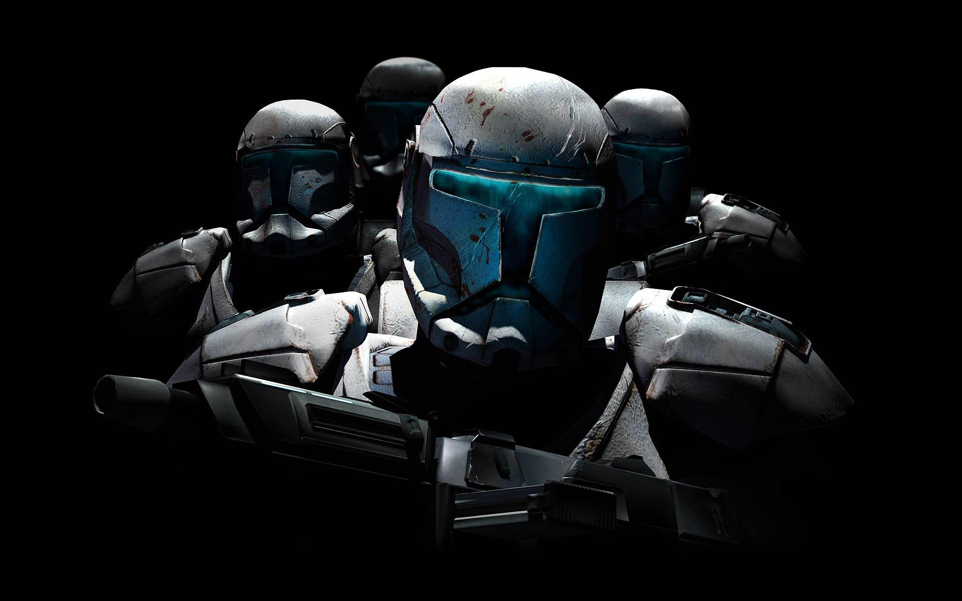 Movie - Star Wars  - Clones - Blue - Troops - Weapons Wallpaper