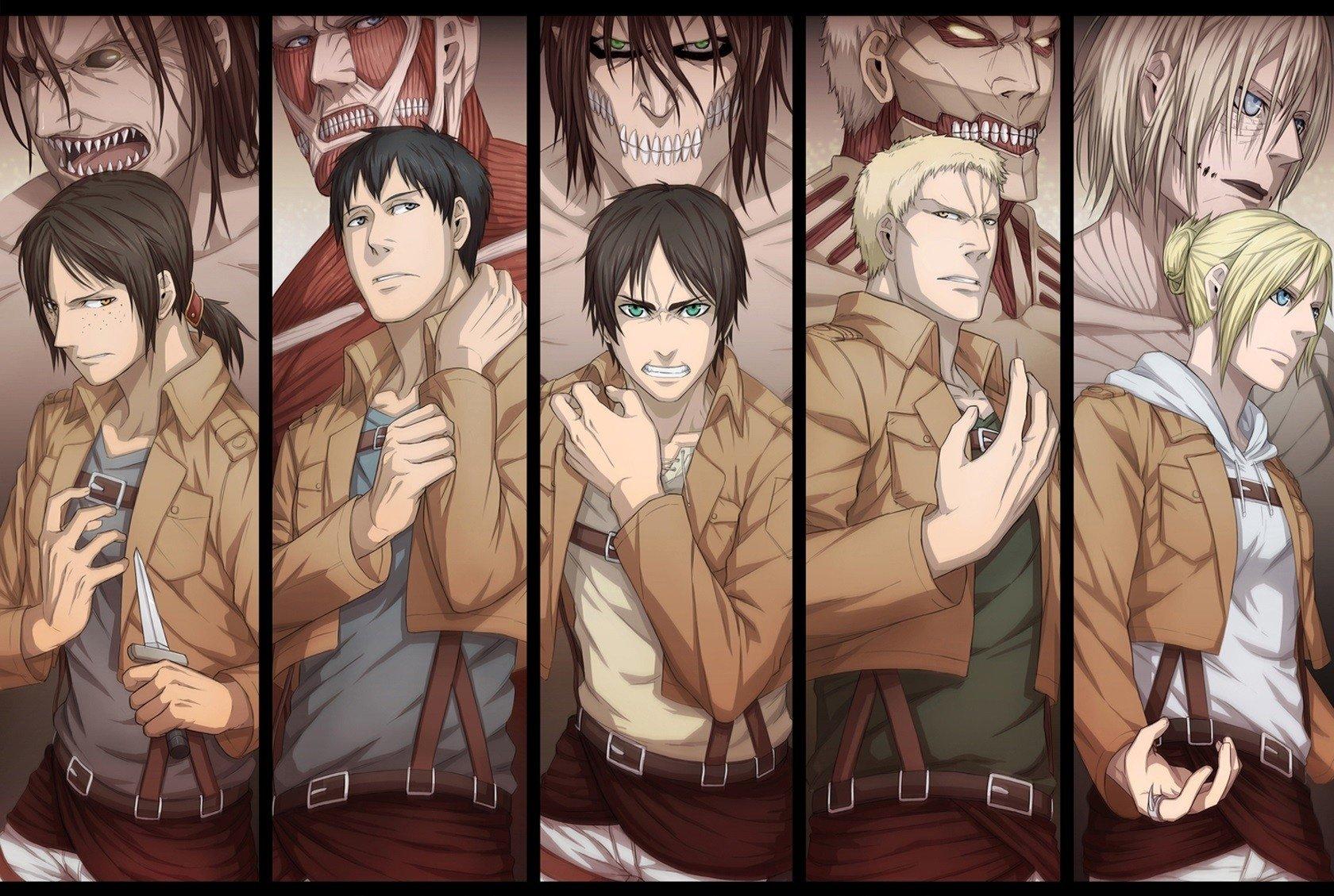 Anime - Attack On Titan  Eren Yeager Annie Leonhart Bertolt Hoover Reiner Braun Ymir (Attack on Titan) Wallpaper