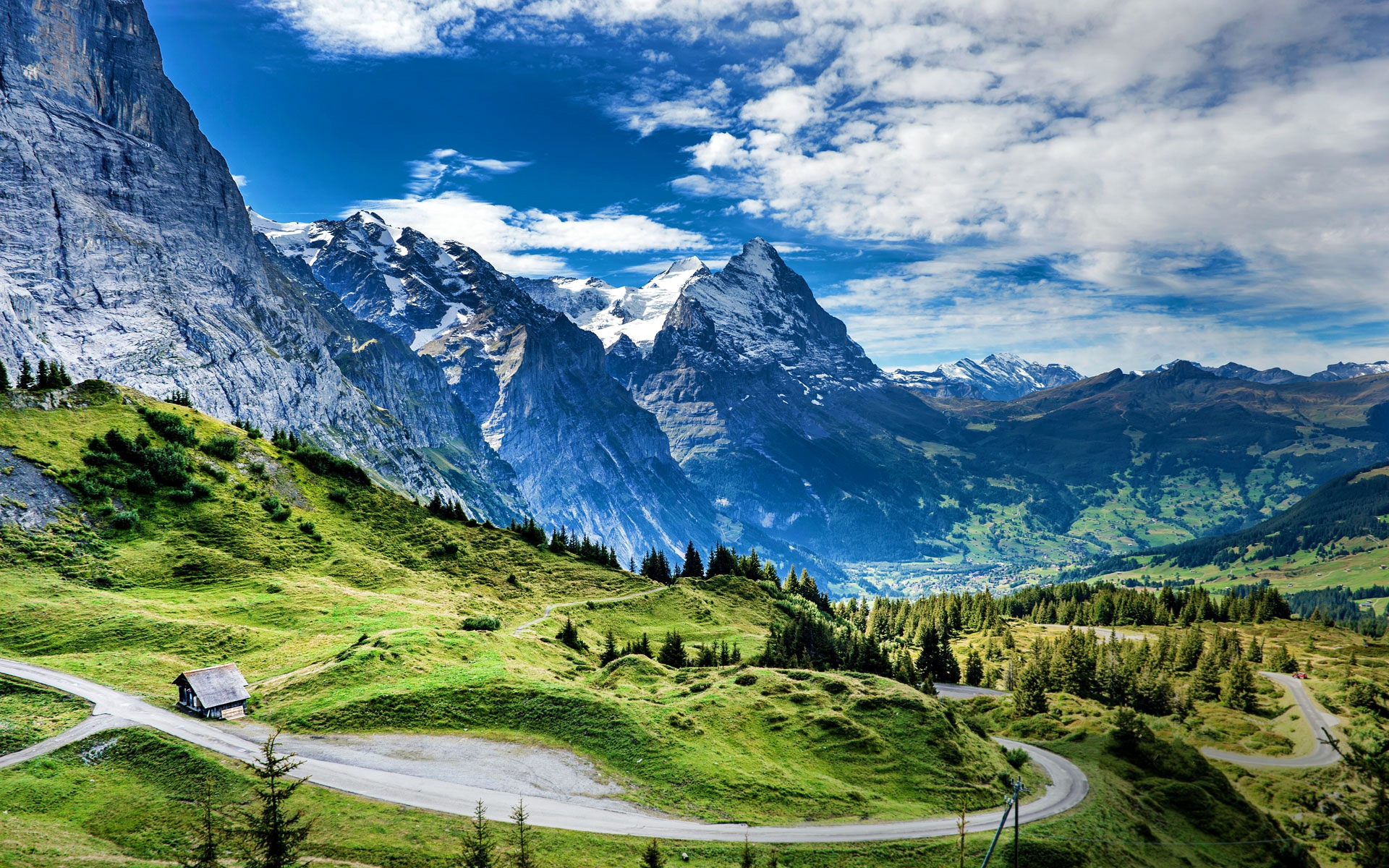 pin paysages montagne fond - photo #24