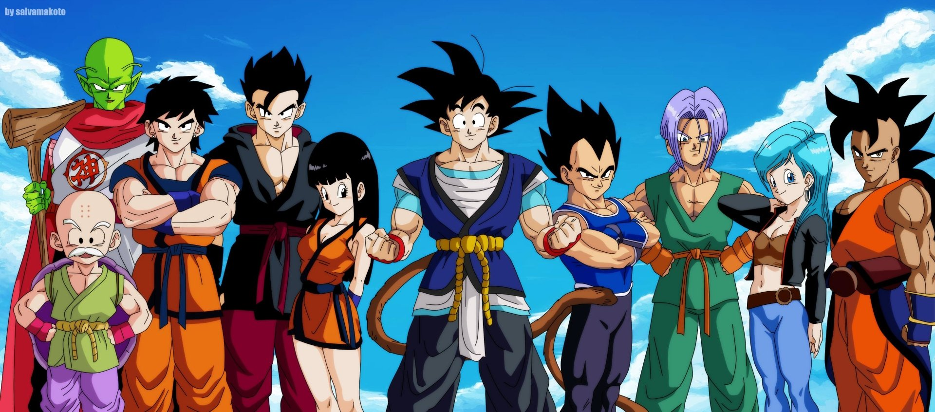 动漫 - 龙珠超  Trunks (Dragon Ball) Vegeta (Dragon Ball) Krillin (Dragon Ball) Gohan (Dragon Ball) Goku Dende (Dragon Ball) Pan (Dragon Ball) Bulla (Dragon Ball) 壁纸