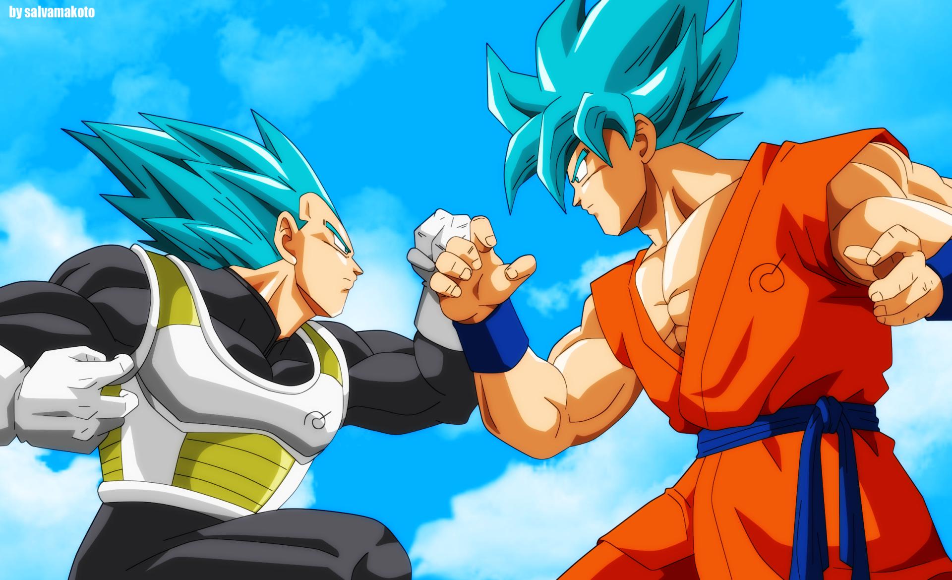 动漫 - 龙珠超  Goku Vegeta (Dragon Ball) Super Saiyan Blue 壁纸