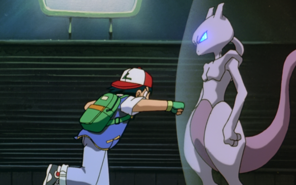 Anime Pokémon The Movie: Mewtwo Strikes Back Pokémon Ash Ketchum Mewtwo Fondo de pantalla HD | Fondo de Escritorio
