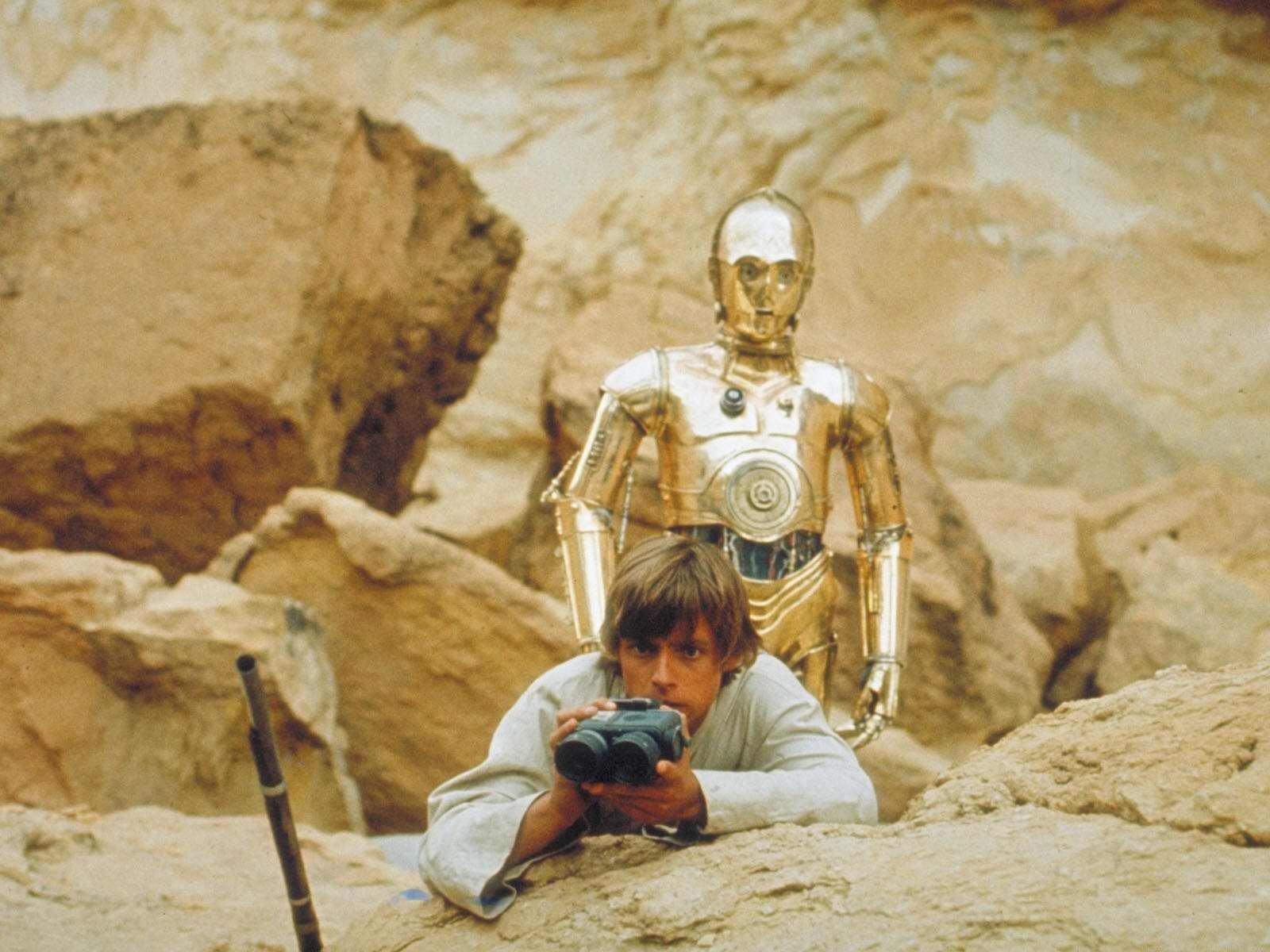 Movie - Star Wars Episode IV: A New Hope  C-3PO Luke Skywalker Wallpaper