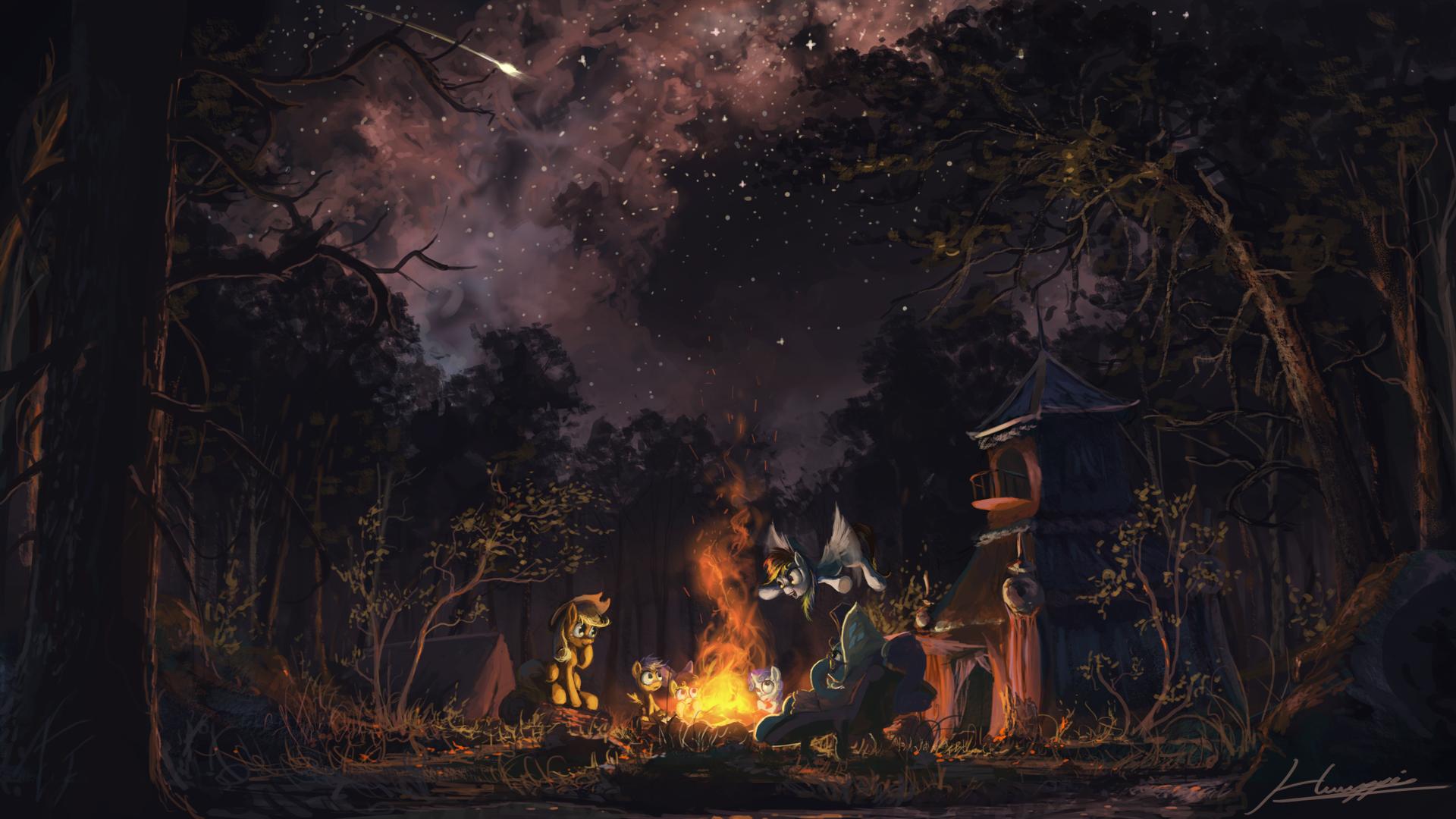 Sleepless In Ponyville HD Wallpaper