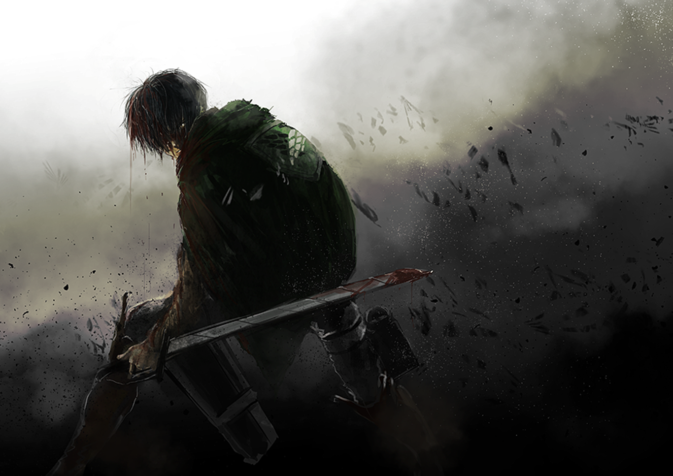 Levi Ackerman Wallpaper And Background Image 1366x967 Id 665356 Wallpaper Abyss