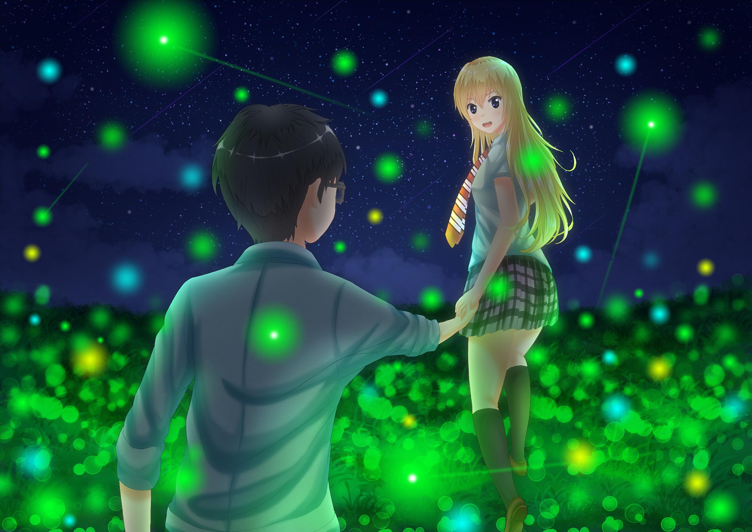 Kaori And Arima Hd Wallpaper Background Image 2500x1768 Id