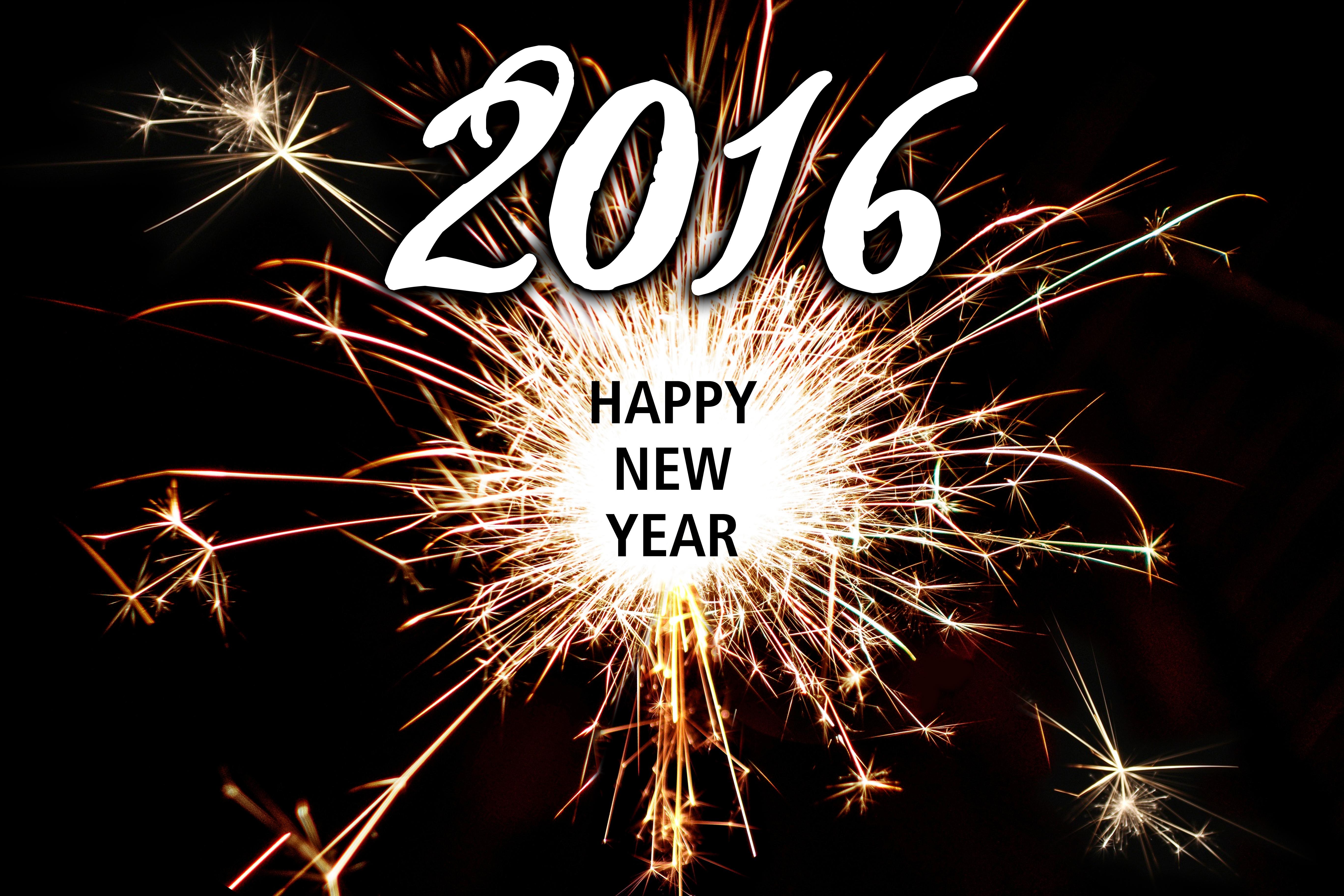 2016 Happy New Year 5k Retina Ultra Hd Wallpaper And