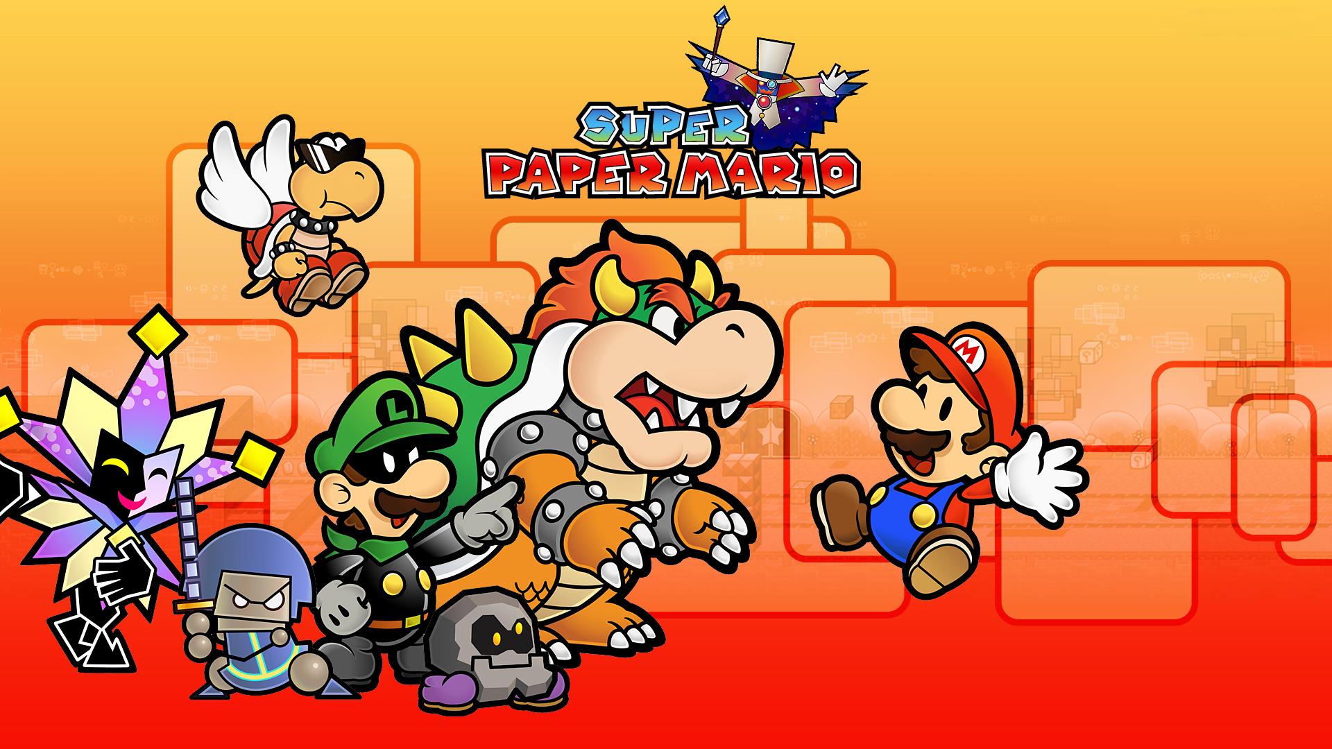 Super Paper Mario Hd Wallpaper Background Image 1920x1080 Id
