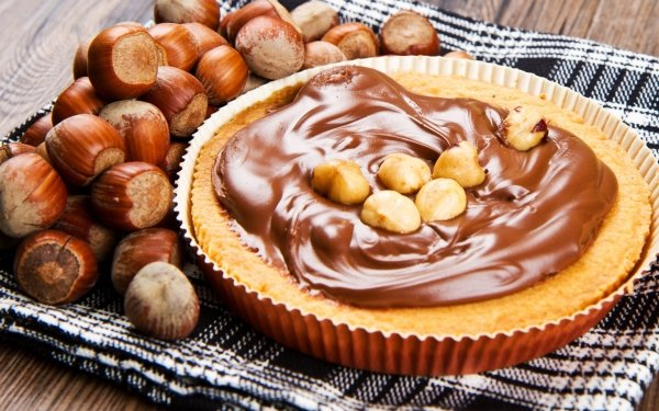 Food Dessert Hazelnut Chocolate Pie Sweets HD Wallpaper | Background Image