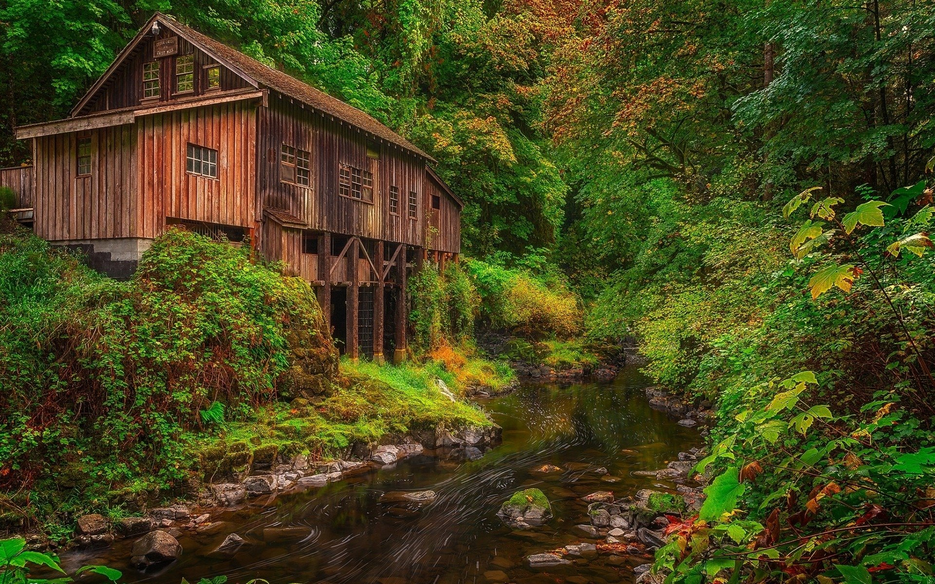 Cedar creek grist mill mill creek full hd wallpaper and for The cedar mill