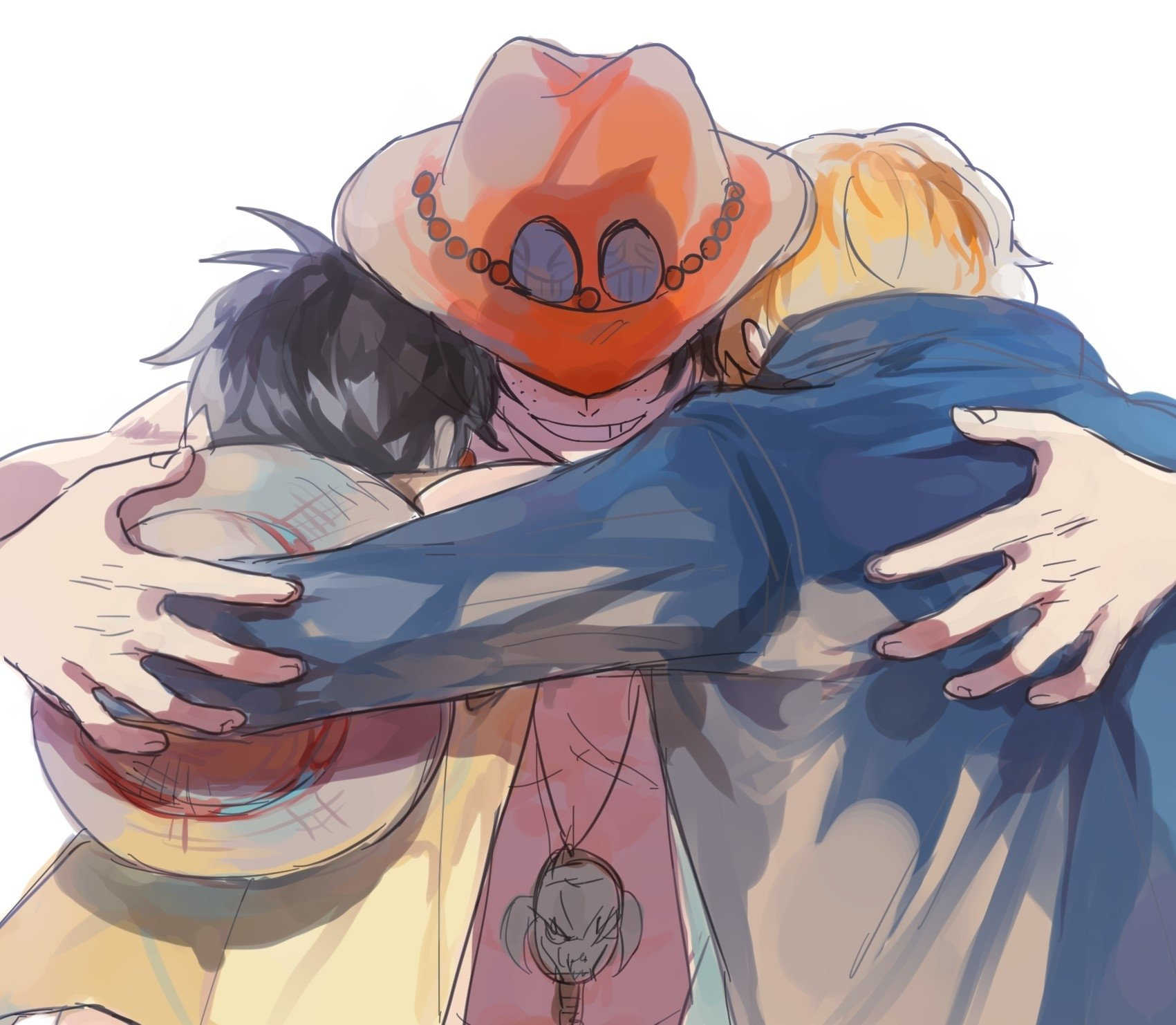Luffy, Ace, Sabo Wallpaper and Background | 1701x1482 | ID ...