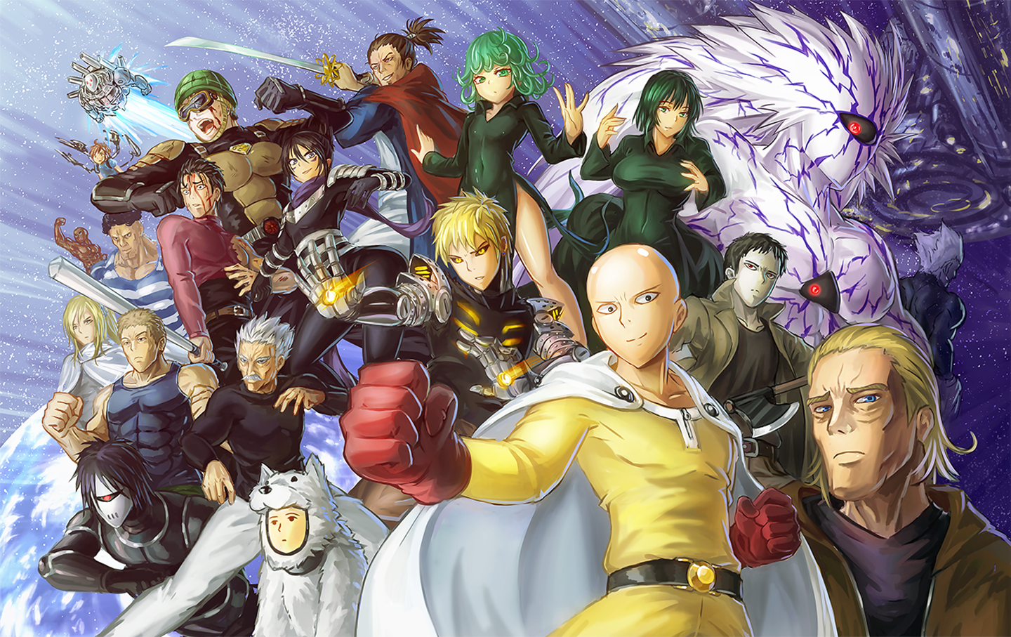 One punch man fond d 39 cran and arri re plan 1440x907 - Funny one punch man wallpaper ...