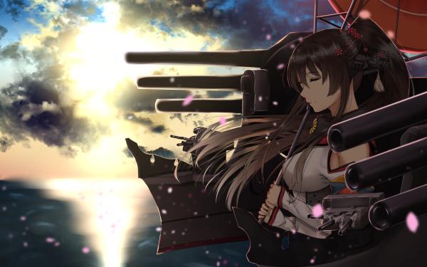 Anime Kantai Collection Yamato HD Wallpaper   Background Image