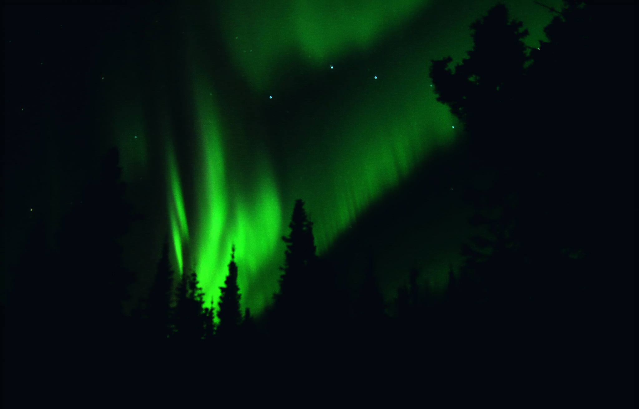 Green Fire In The Sky Hd Wallpaper Background Image