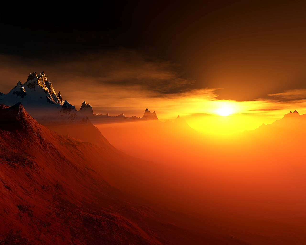 CGI - Real World  Sun Mountain Wallpaper